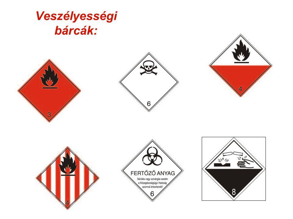 Veszélyességi bárcák: