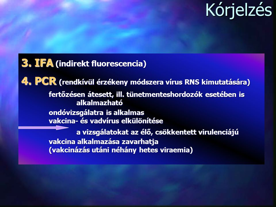Kórjelzés 3. IFA (indirekt fluorescencia)