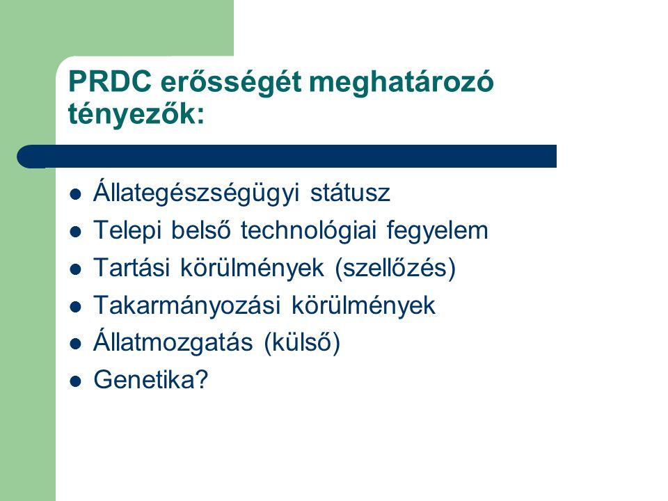 PRDC erősségét meghatározó tényezők: