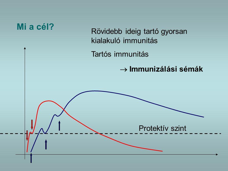 Mi a cél Rövidebb ideig tartó gyorsan kialakuló immunitás