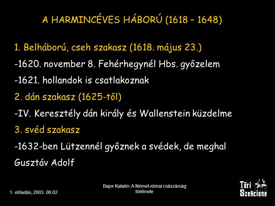 A HARMINCÉVES HÁBORÚ (1618 – 1648)