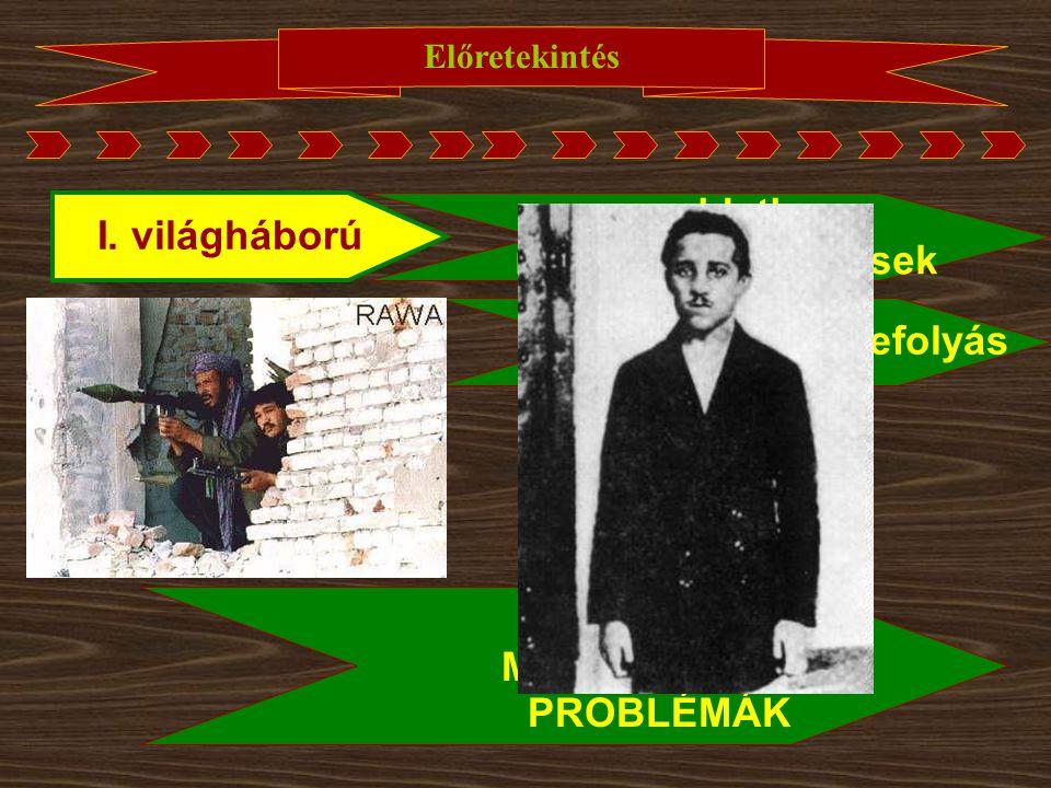 megoldatlan I. világháború nemzetiségi kérdések erős szerb befolyás