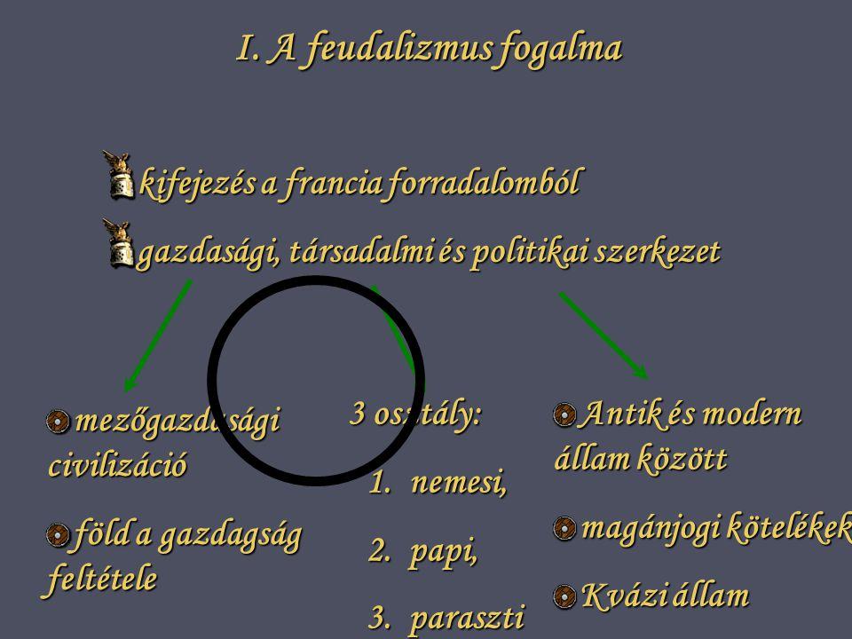 I. A feudalizmus fogalma
