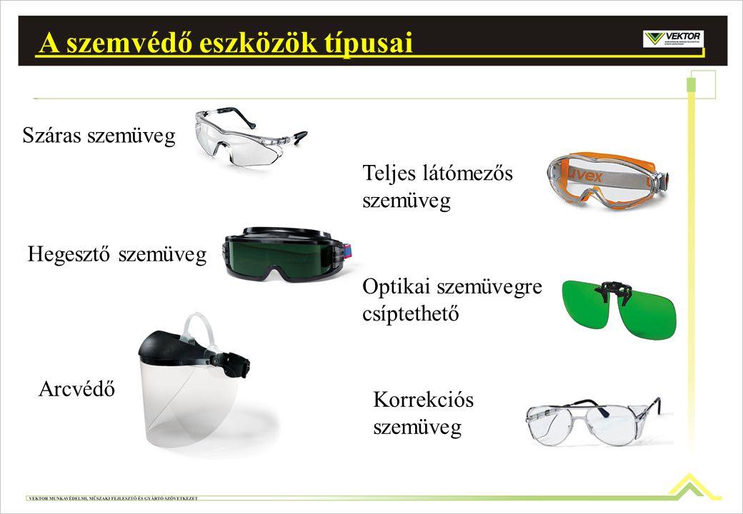 A szemvédő eszközök típusai