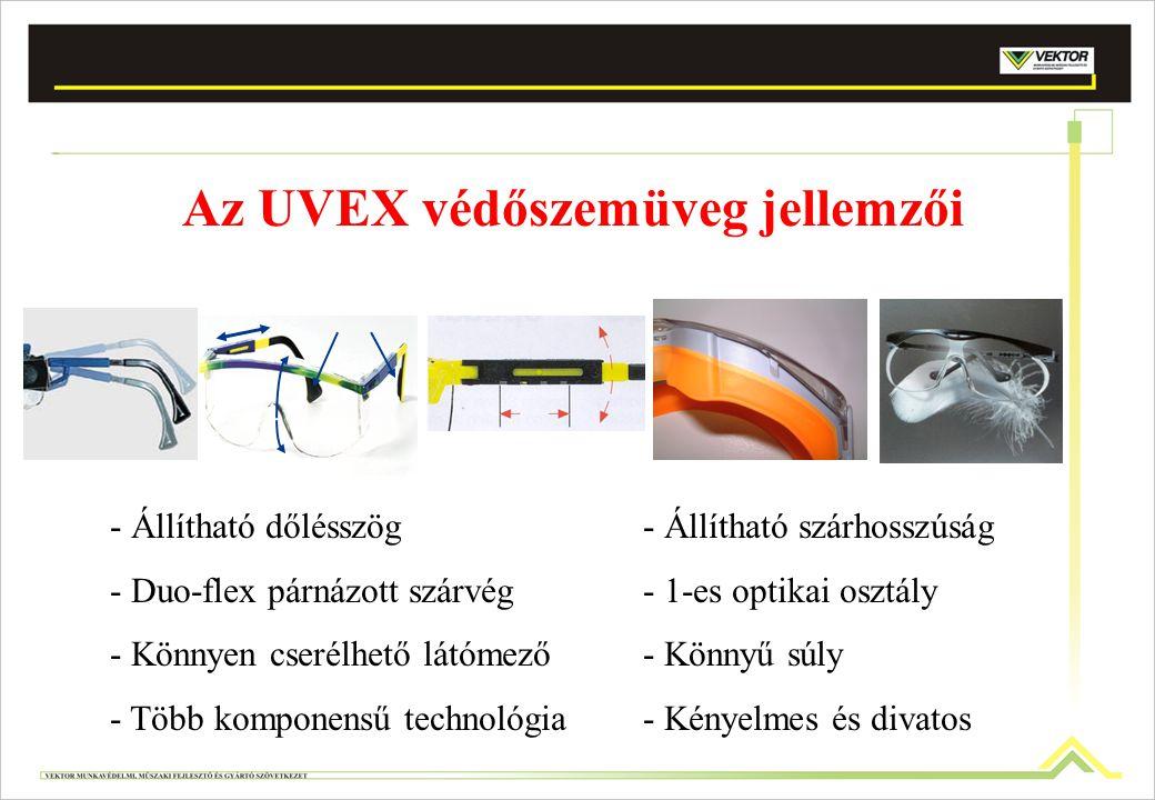Az UVEX védőszemüveg jellemzői