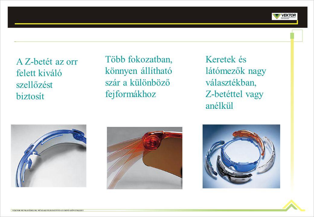Több fokozatban, könnyen állítható szár a különböző fejformákhoz