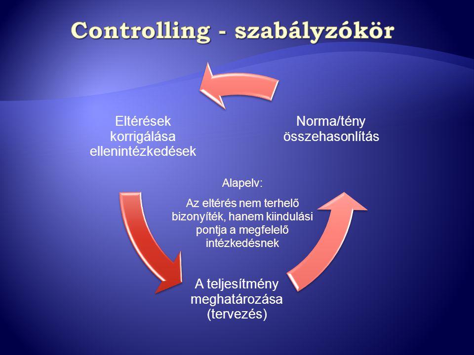 Controlling - szabályzókör
