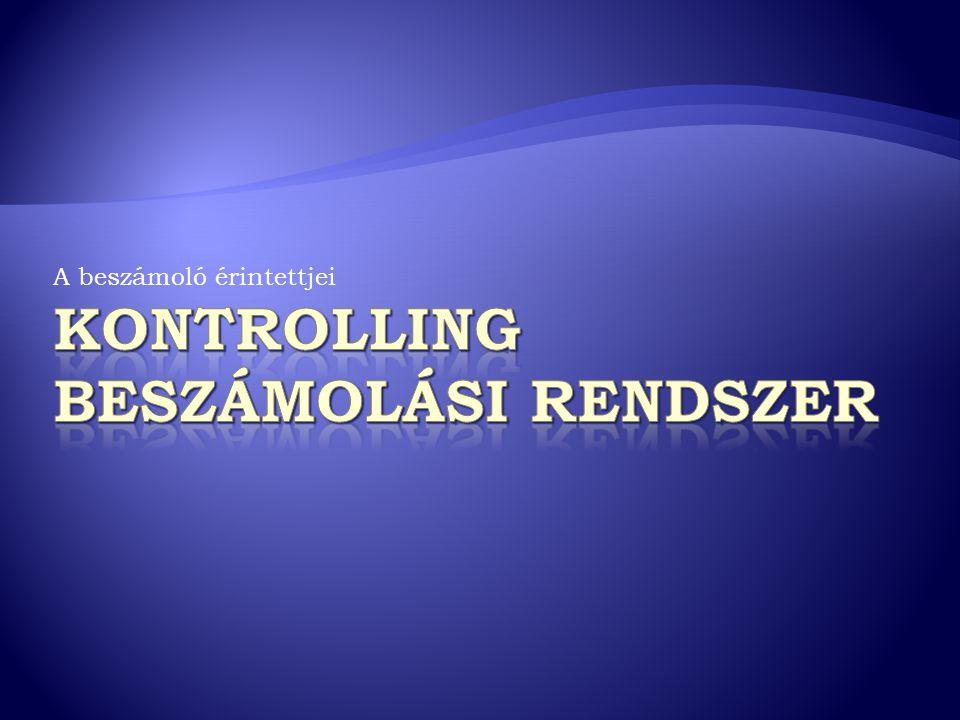 Kontrolling beszámolási rendszer