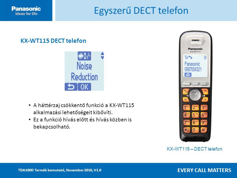 Egyszerű DECT telefon KX-WT115 DECT telefon