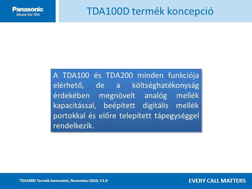 TDA100D termék koncepció