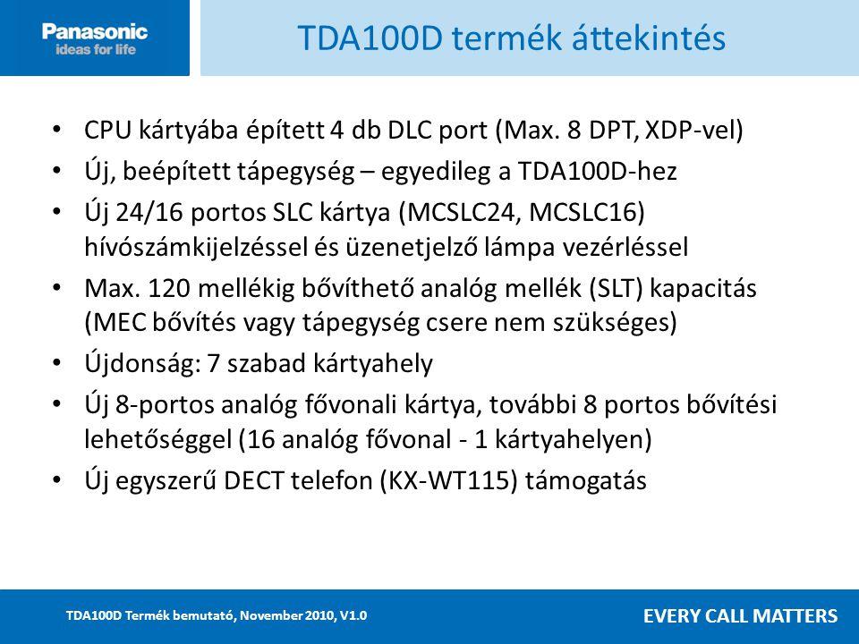 TDA100D termék áttekintés