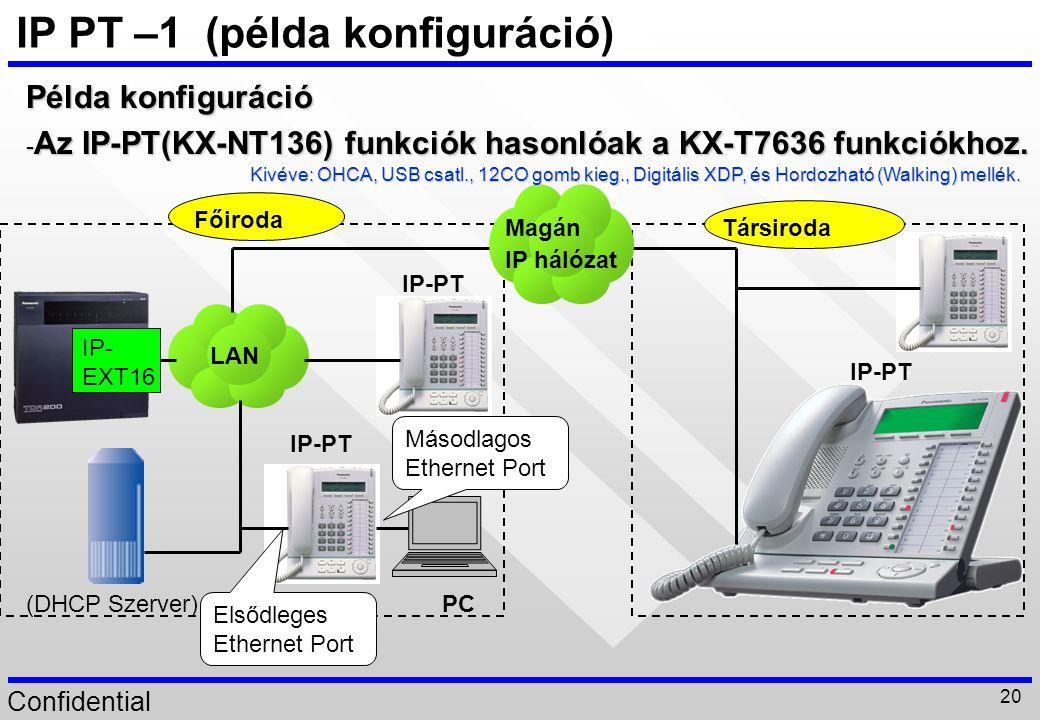 IP PT –1 (példa konfiguráció)
