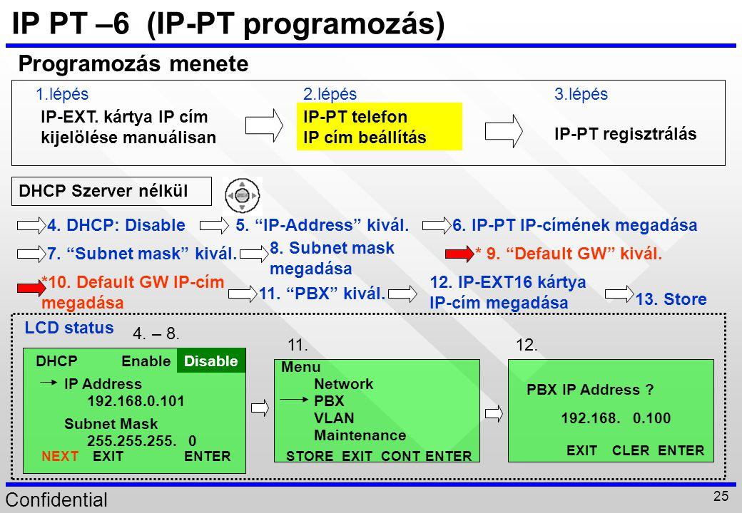 IP PT –6 (IP-PT programozás)