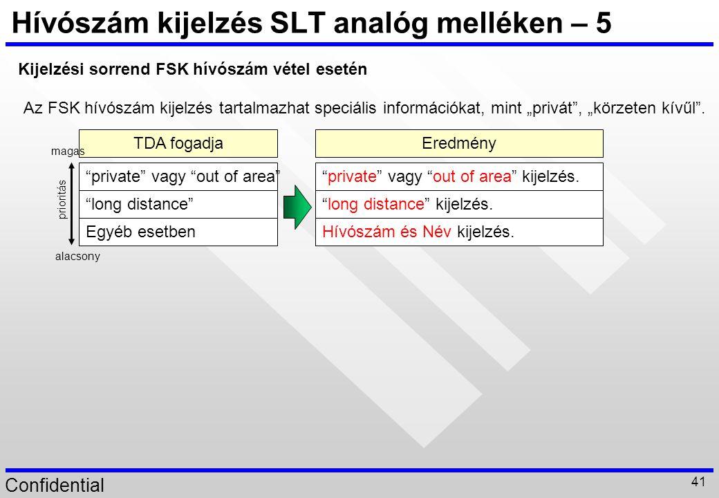 Hívószám kijelzés SLT analóg melléken – 5