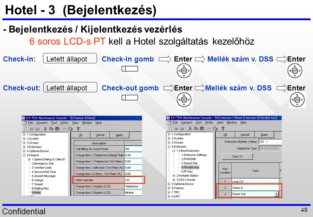 Hotel - 3 (Bejelentkezés)