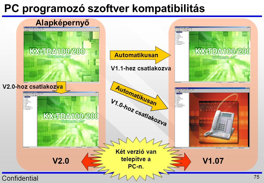 PC programozó szoftver kompatibilitás