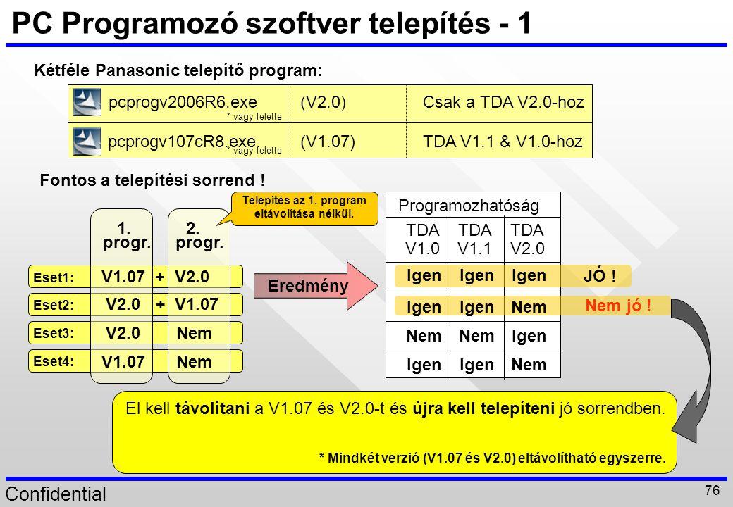 PC Programozó szoftver telepítés - 1