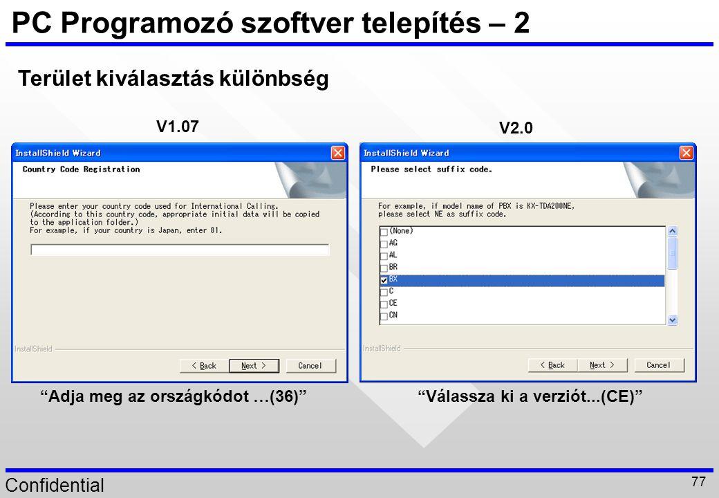 PC Programozó szoftver telepítés – 2
