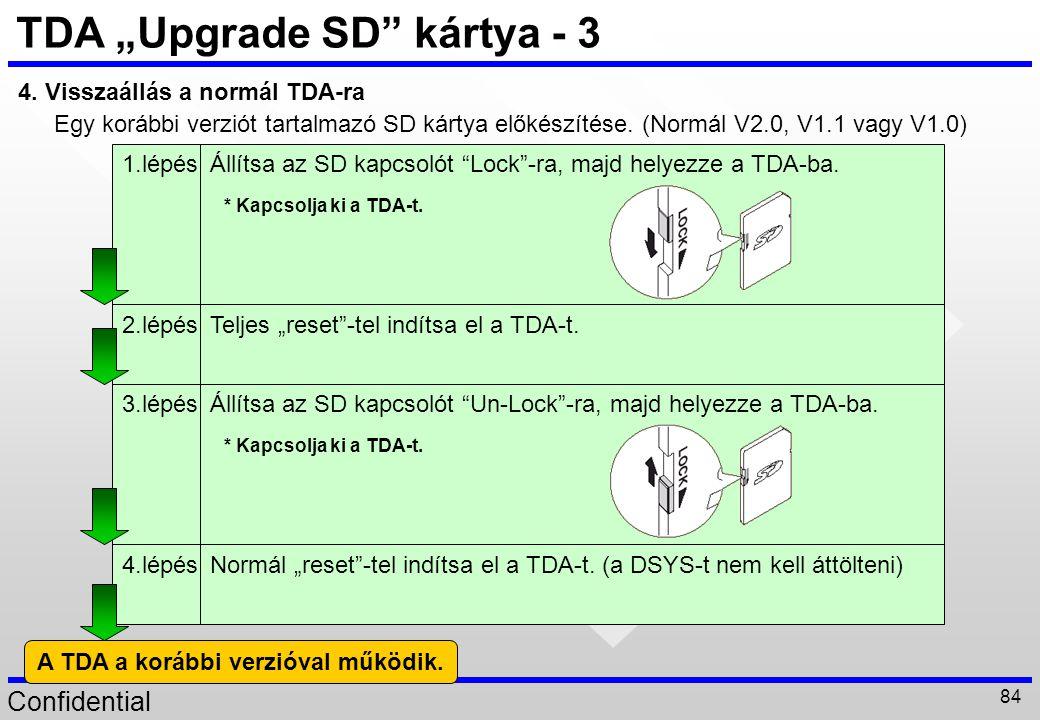 """TDA """"Upgrade SD kártya - 3"""