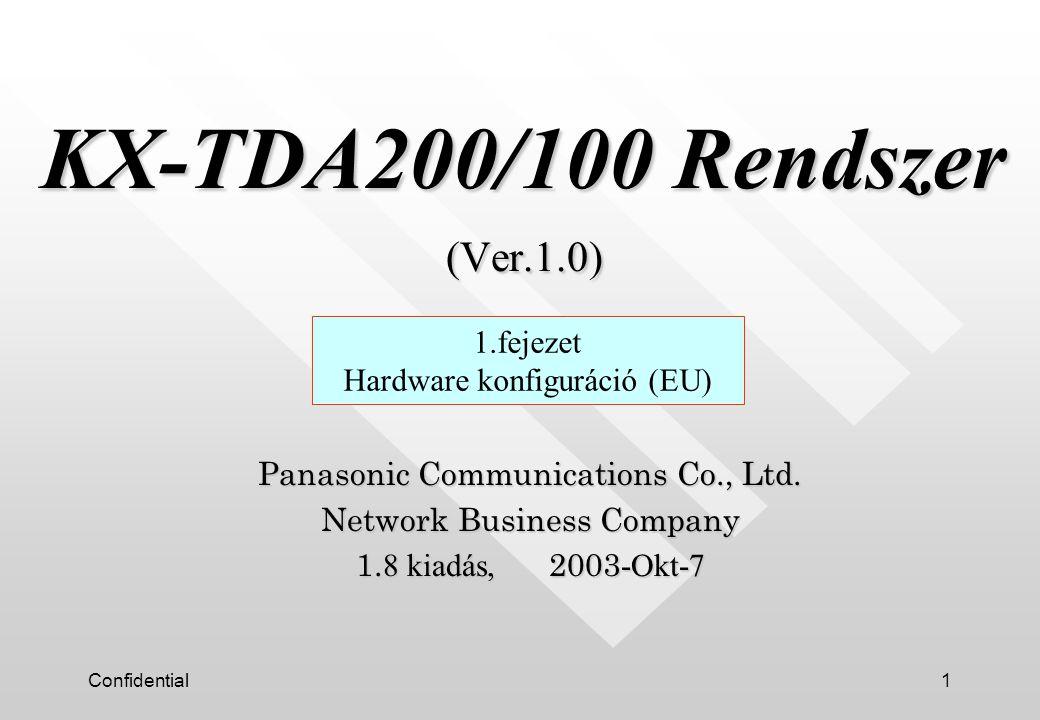 KX-TDA200/100 Rendszer (Ver.1.0)