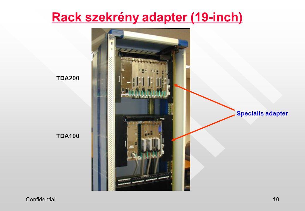 Rack szekrény adapter (19-inch)