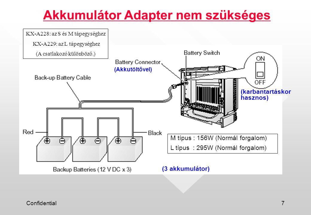 Akkumulátor Adapter nem szükséges