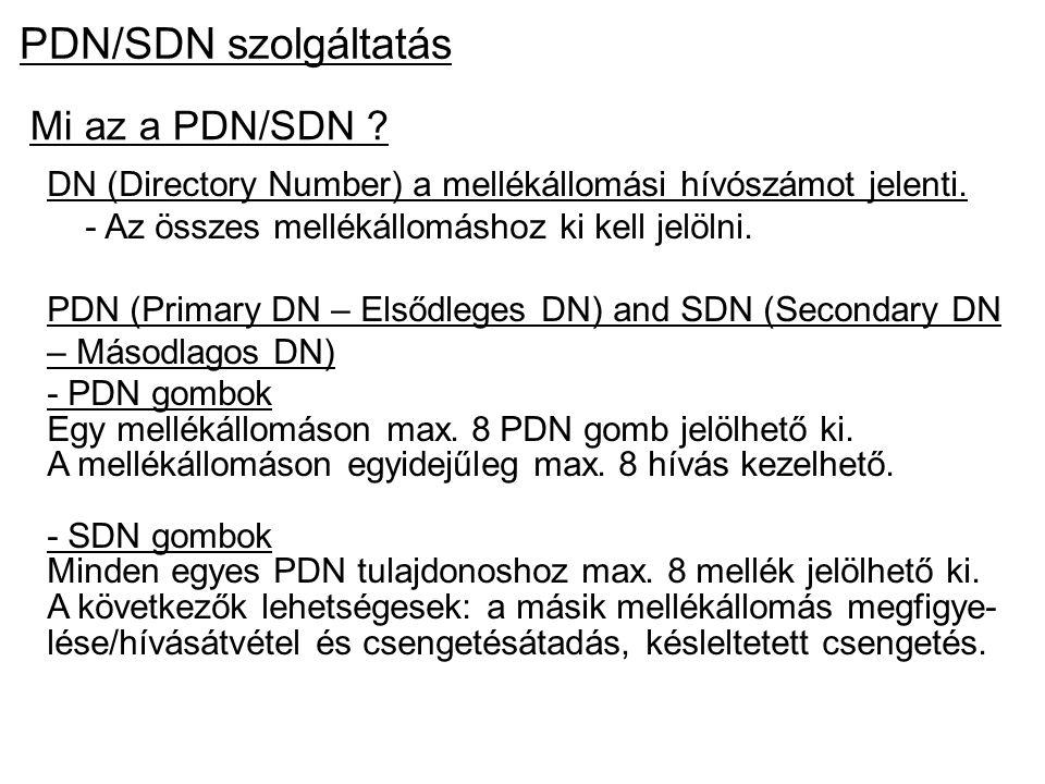 PDN/SDN szolgáltatás Mi az a PDN/SDN