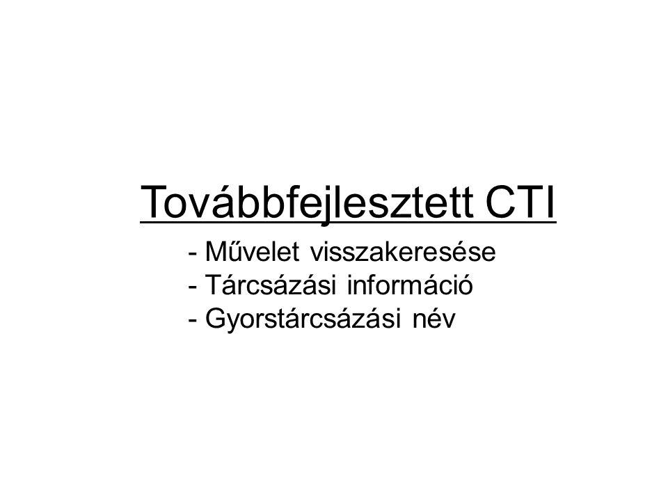 Továbbfejlesztett CTI