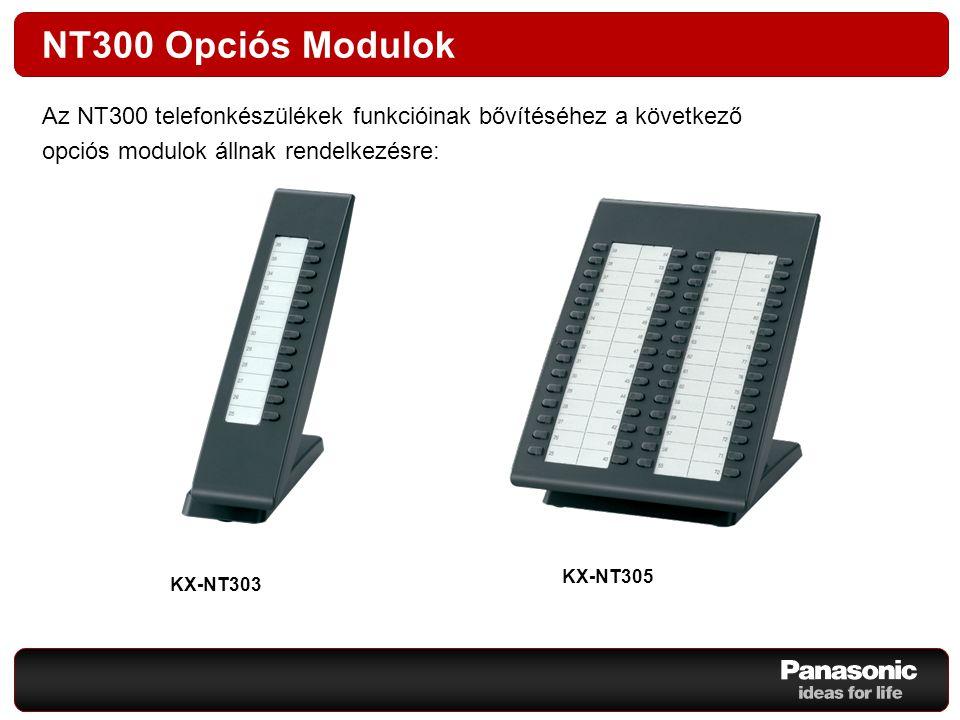 NT300 Opciós Modulok Az NT300 telefonkészülékek funkcióinak bővítéséhez a következő. opciós modulok állnak rendelkezésre: