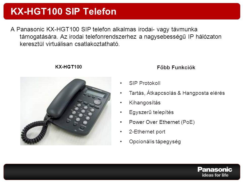 KX-HGT100 SIP Telefon