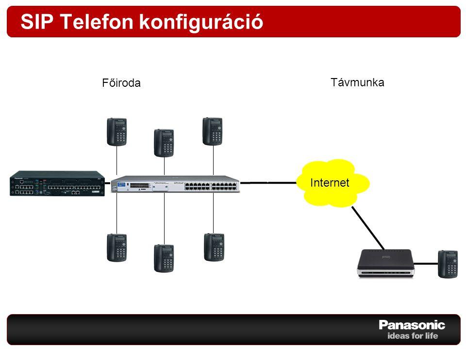 SIP Telefon konfiguráció