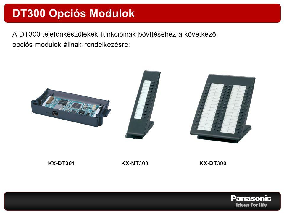 DT300 Opciós Modulok A DT300 telefonkészülékek funkcióinak bővítéséhez a következő. opciós modulok állnak rendelkezésre: