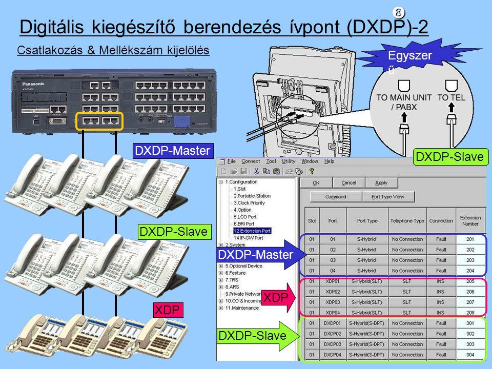 Digitális kiegészítő berendezés ívpont (DXDP)-2