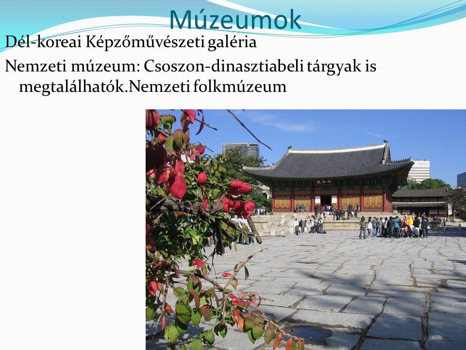 Múzeumok Dél-koreai Képzőművészeti galéria