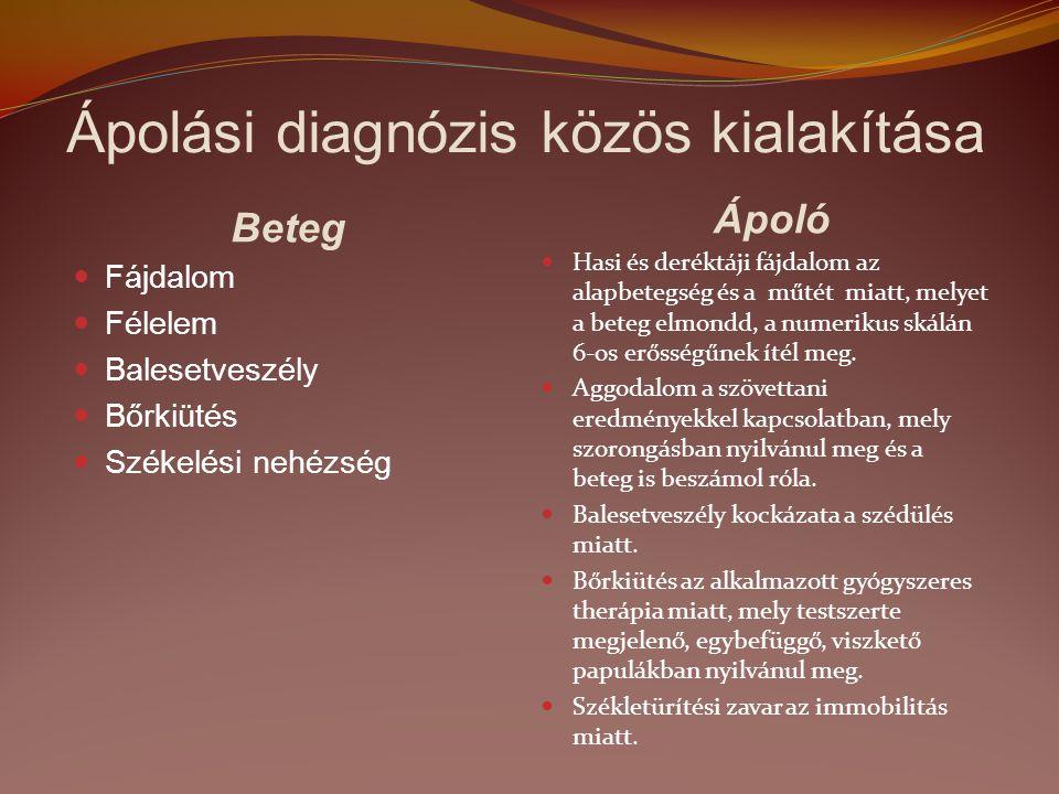 Ápolási diagnózis közös kialakítása