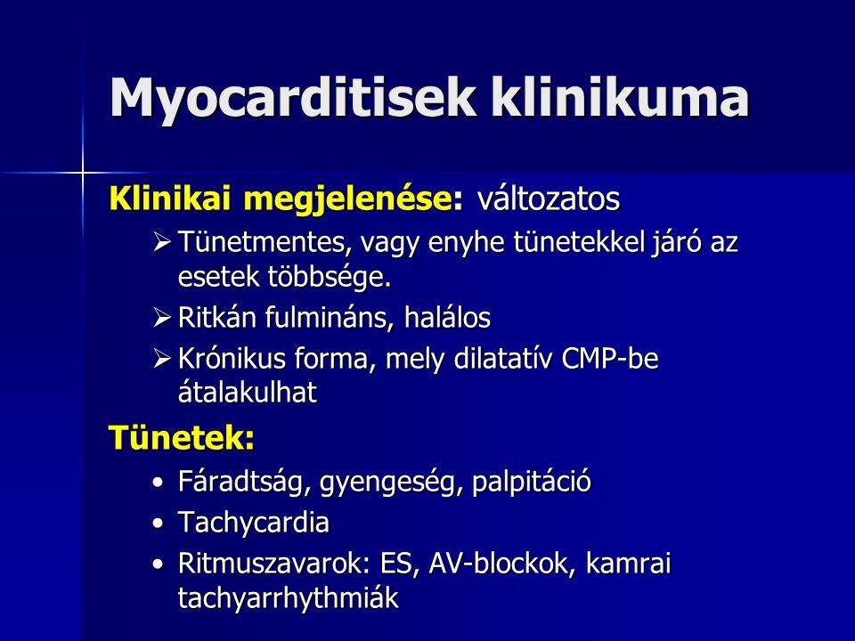 Myocarditisek klinikuma