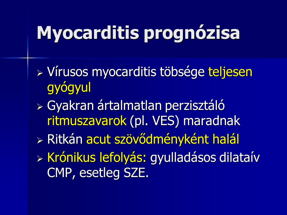 Myocarditis prognózisa