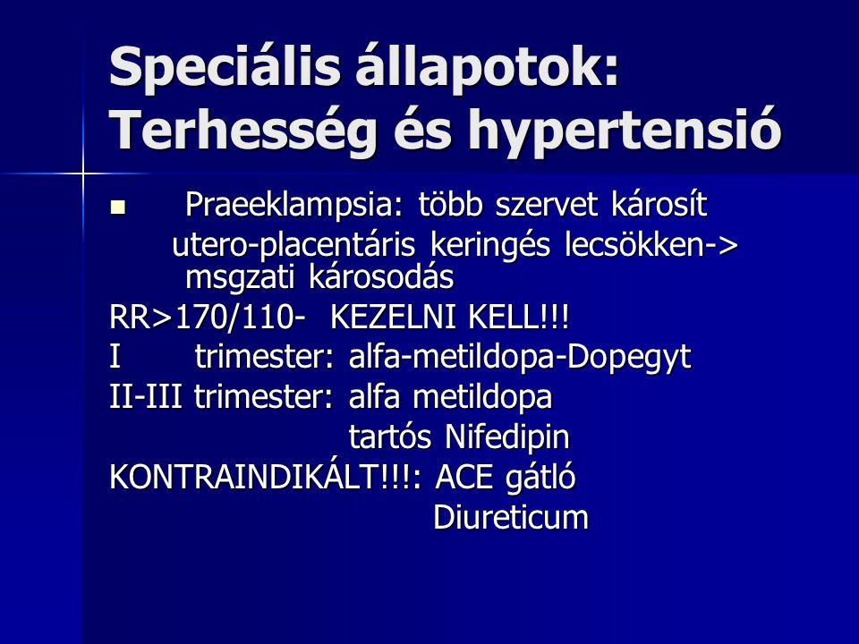 Speciális állapotok: Terhesség és hypertensió