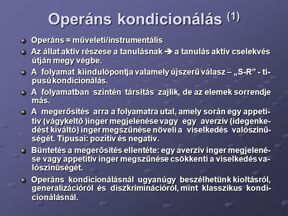 Operáns kondicionálás (1)