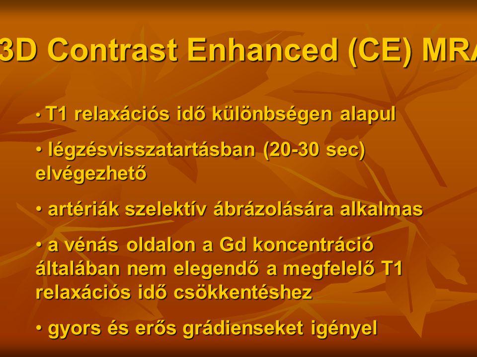 3D Contrast Enhanced (CE) MRA