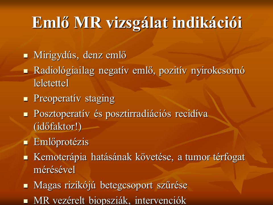 Emlő MR vizsgálat indikációi