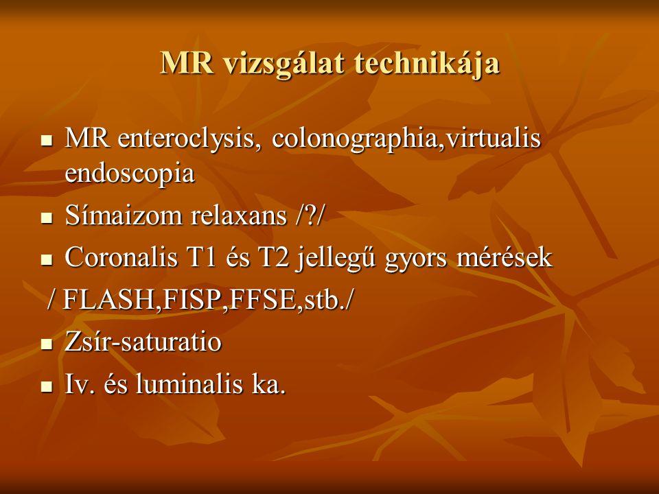 MR vizsgálat technikája