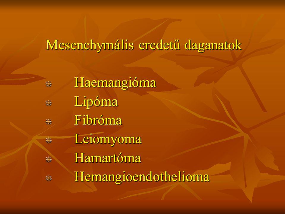 Mesenchymális eredetű daganatok