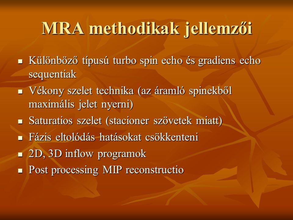 MRA methodikak jellemzői