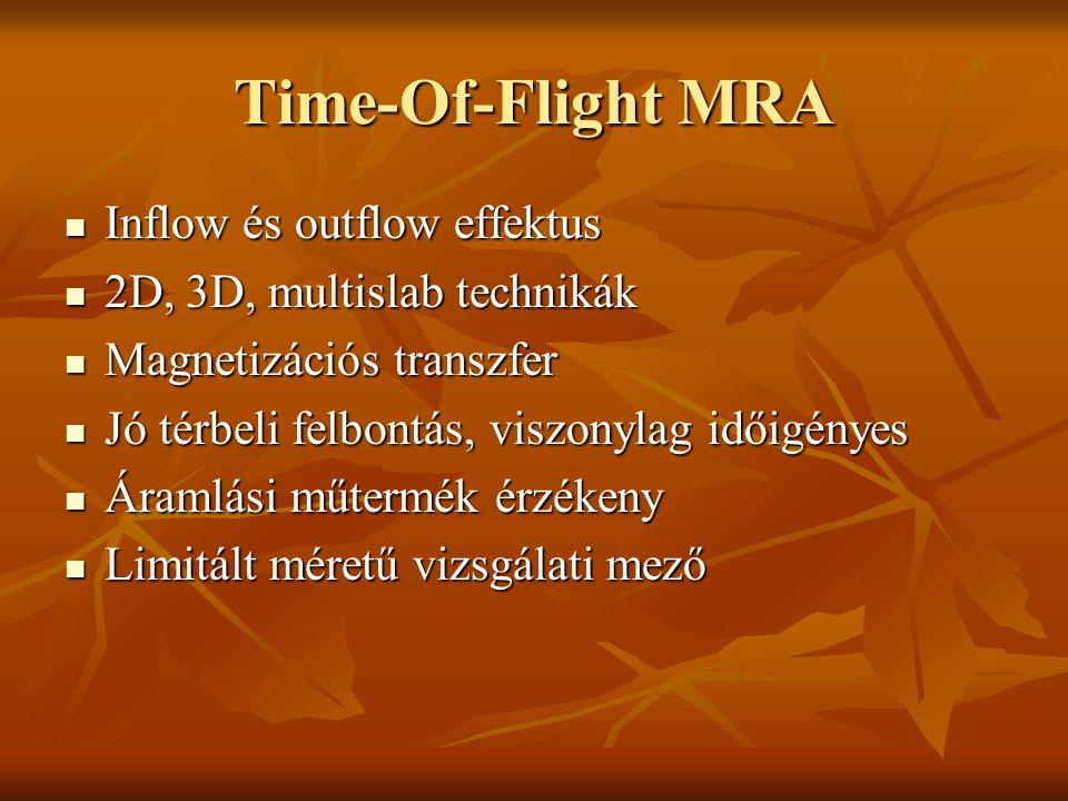 Time-Of-Flight MRA Inflow és outflow effektus
