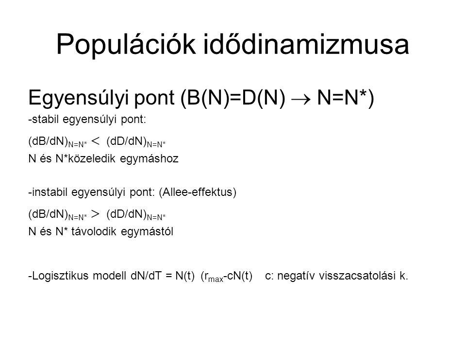 Populációk idődinamizmusa