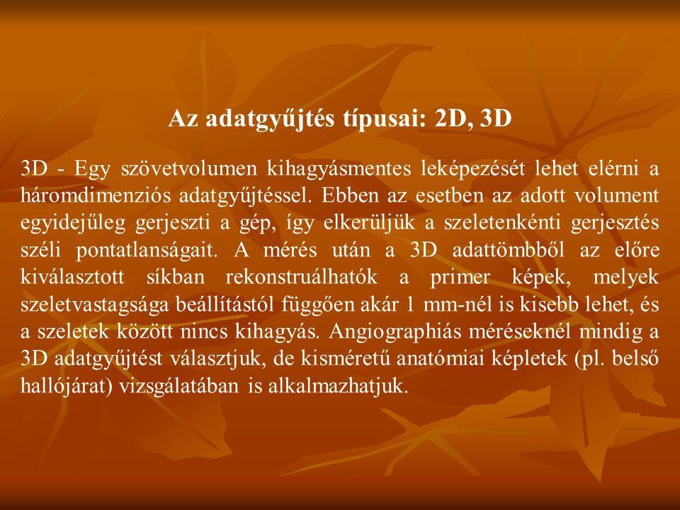 Az adatgyűjtés típusai: 2D, 3D