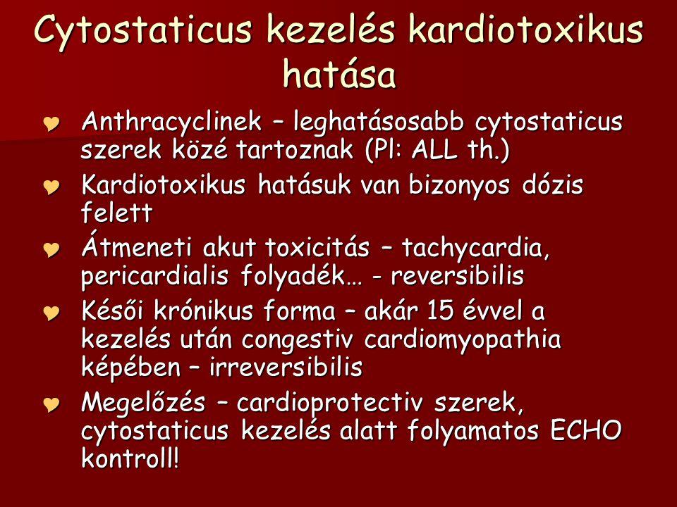 Cytostaticus kezelés kardiotoxikus hatása
