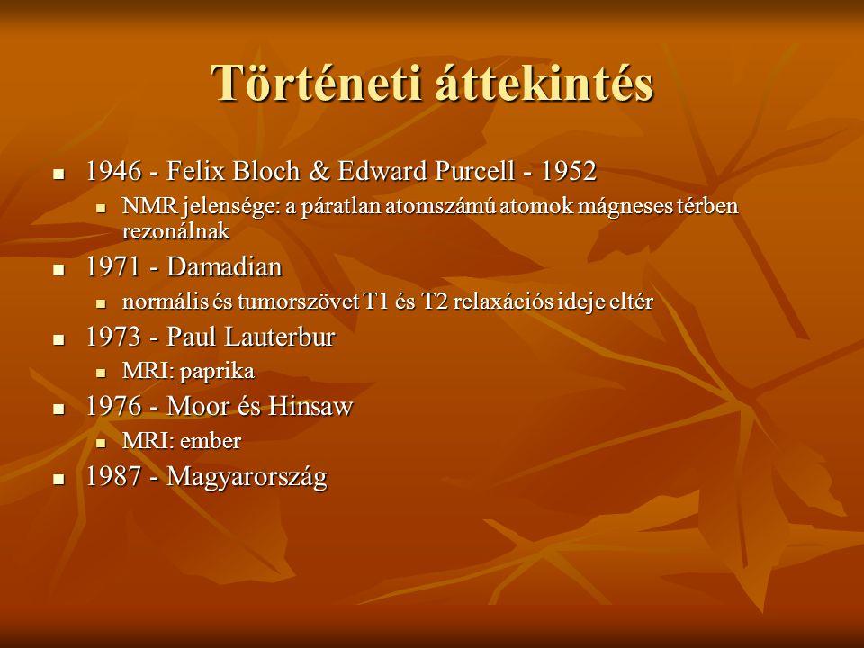 Történeti áttekintés 1946 - Felix Bloch & Edward Purcell - 1952