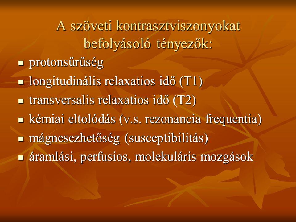 A szöveti kontrasztviszonyokat befolyásoló tényezők: